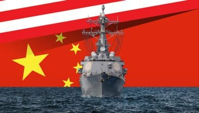 US-China-Navy-Flags